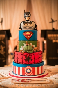 elysia-root-cakes-superhero-grooms-cake-wedding-cake