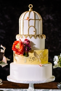 elysia root cakes chicago birdcage wedding cake