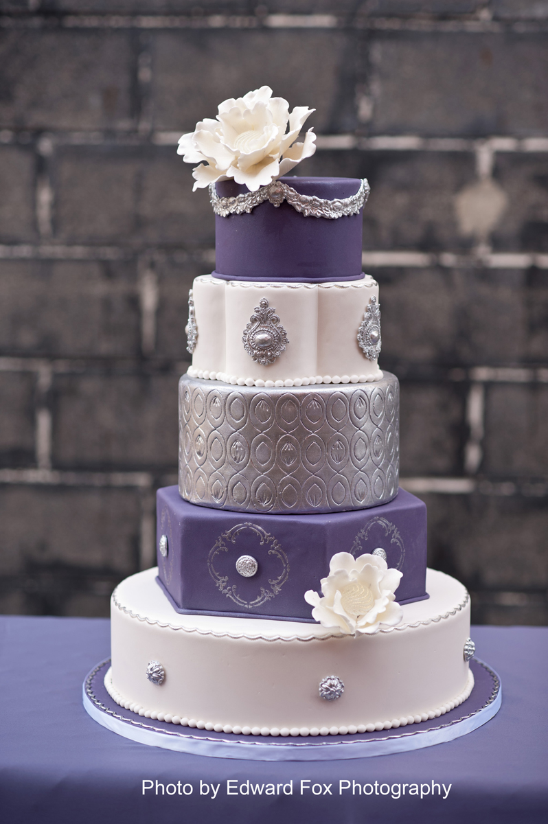 Elysia Root Cakes Chicago Purple Silver Cake