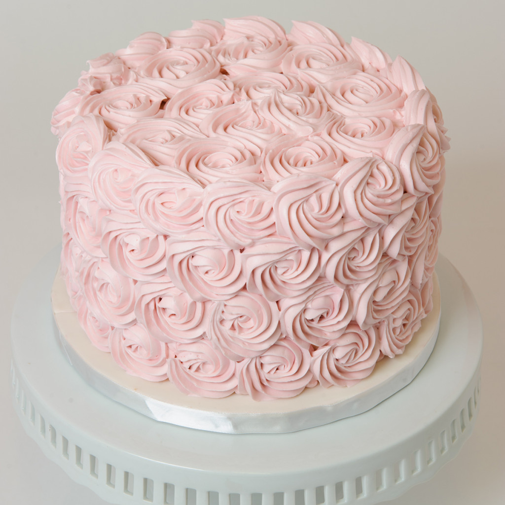 Piped Rosettes Cake Elysia Root Cakes