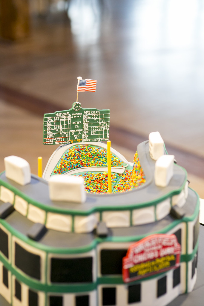 Wrigley Field groom's cake by Elysia Root Cakes