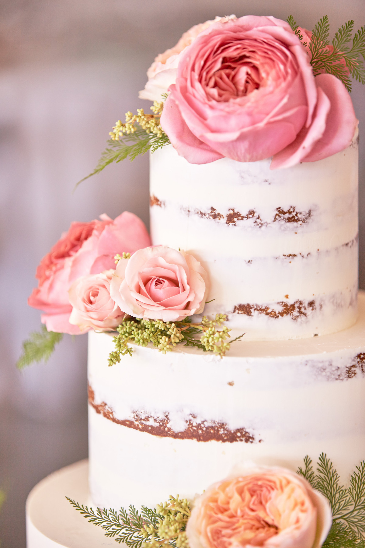 Naked} Carrot Wedding Cake