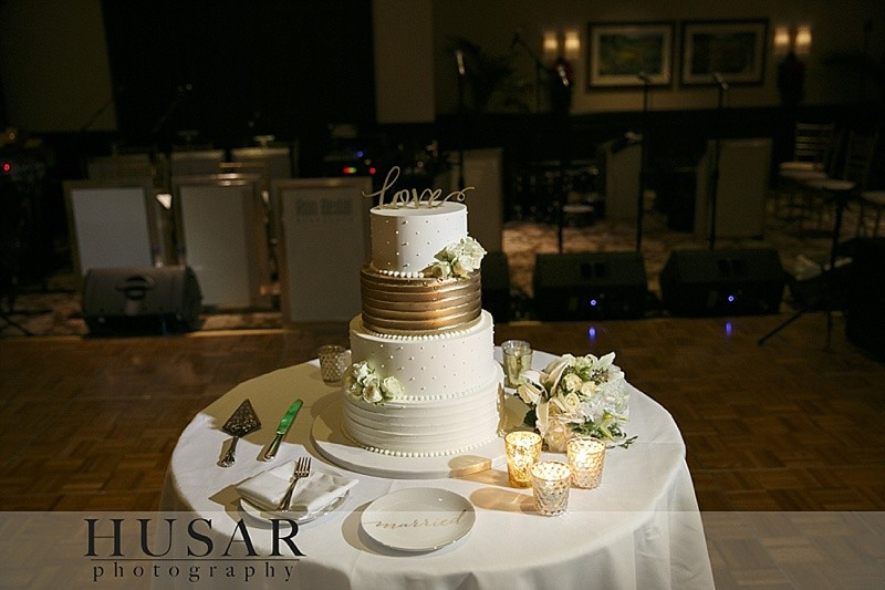 Custom Cake Spotlight Elegant Wedding Cake with Gold Accents